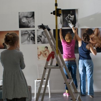 Montage de l'exposition « Seeing you » © Lorena Morin