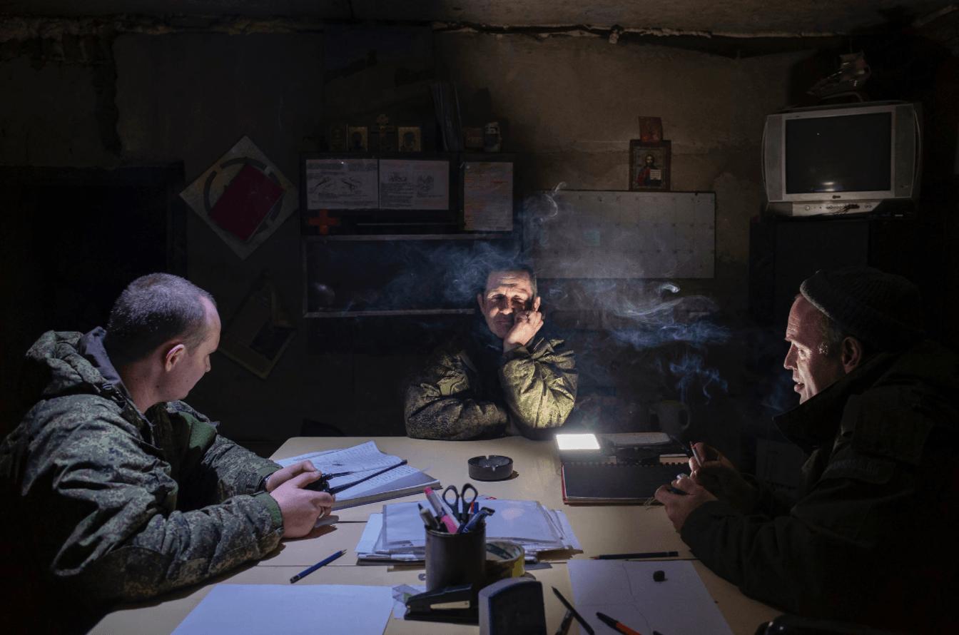 Guerre épaisse : l'Ukraine en guerre avec le Donbass <br> Série Ukraine : comment les « séparatistes » vivent la guerre contre eux ; 2019 © Guillaume Chauvin