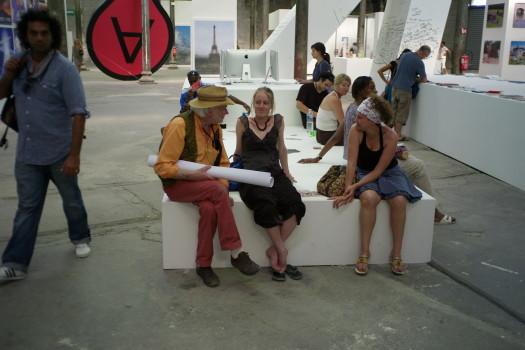 Bob Fleck, Céline Duval, Patricia Jacopin, Arles 2011 © Alain Kaiser
