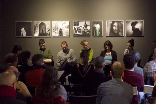 Rencontre publique autour de l'exposition « Dépêche-toi de vivre » © Stimultania, janvier 2018