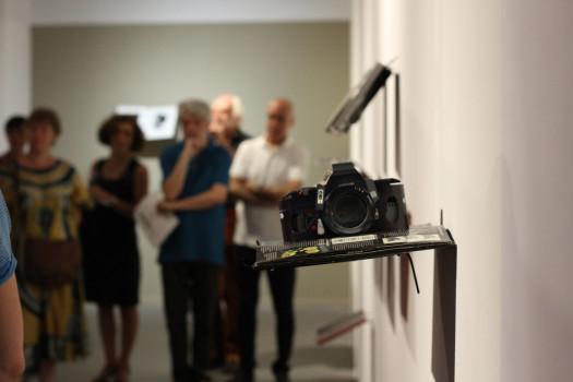 Vernissage de l'exposition « Doubles pages », septembre 2016 à Stimultania © Laure Canaple