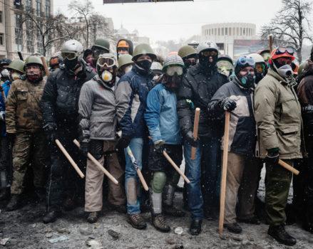 Kiev – rue hrushevskoho – 22 janvier 2014 – 14h16 © Guillaume Herbaut
